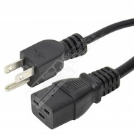 Server Power Cord - NEMA 5-15P to C19 - 15 Amp - Black (Choose Length)