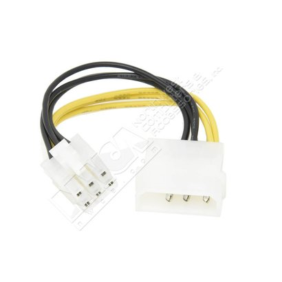"4"" 4 Pin Molex to 6 Pin PCI-Express PCIE Video Card Power Adapter Converter Cable"
