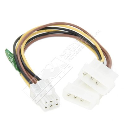 6 Pin PCI-E to 2 X 4 Pin Molex Power Cable for PCI-E Video Cards