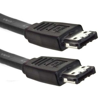 External eSATA to eSATA Cable, Black (Choose Length)