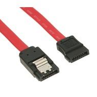 SATA 6Gbs Cable w/Locking Latch, Straight to Straight, Red (Choose Length)