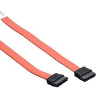 "24"" Flat SATA Cable Straight, Red"