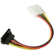Cables Unlimited FLT-3700-RA 4 Pin Molex to Right Angle SATA Power Cable Adapter