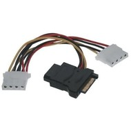 "8"" SATA to x3 Molex Cable Adapter"