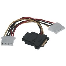 "8"" SATA to x3 Molex Cable Adapter"