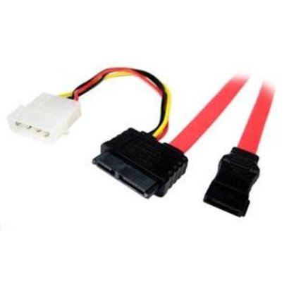 "18"" SATA Drive Cable to SATA and 4 p-inch Molex Power"