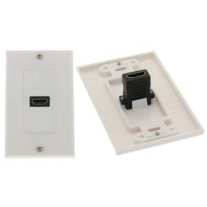 HDMI 1 Port Wall Plate with HDMI Female/Female Port, White