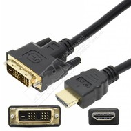 HDMI Male to DVI-D Single Link Male Cable, Black (Choose Length)