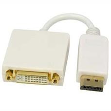 "8"" DisplayPort Male to DVI Female Converter Adapter, White"