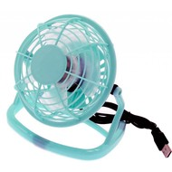 "USB Desktop 4"" Mni Fan Light Blue"