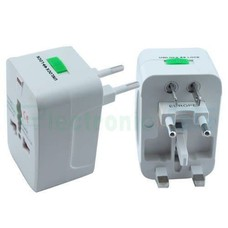 Surge Protector All in One Universal Worldwide Travel Wall Charger AC Power AU UK US EU Plug Adapter Adaptor