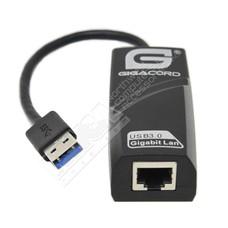 Gigacord Gigacord USB 3.0 to 10/100/1000 Gigabit Ethernet Adapter, Black