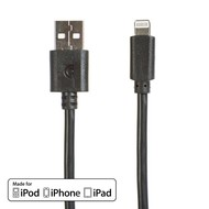 Griffin Griffin 8pin Lightning USB Sync Charge Transfer Cable, Black (3 - 10ft.)