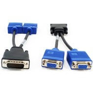 "DVI to Dual VGA SVGA Splitter Cable Adapter Nvidia #CB00308S1-VGA. For Video Card, LFH 59-pin Male / 2 x HDDB15 VGA Female 8"" inch"