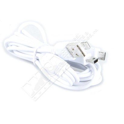Gigacord 6Ft 3-in1 USB Micro iPhone 5 6 8-pin Lightning Mini-B 5pin Charging Cable, White (6 Foot 3in1)