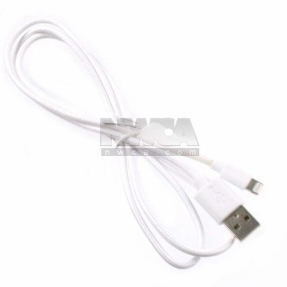 Gigacord Gigacord iPhone 5/c/s USB Charging/Sync Cable, White Sleeved (Choose Length)
