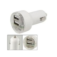 3.1 Amp Dual USB Auto Car Charger for iPhone iPad Samsung, White