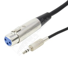 XLR Female to 3.5mm Stereo Male Cable (6 - 25ft.)