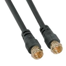 F-Type Screw-on RG6 Cable Black (3 - 100ft.)