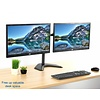 """Dual LED LCD Monitor Mount Free Standing Desk Mount with Optional Bolt-through Grommet/Stand Heavy Duty Fully Adjustable fits Two Screens up to 27"""""""