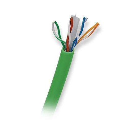 Ultra 500FT 350MHz Unshielded Twisted Pair CAT5e Patch Network Cable - 500FT, CAT5e, UTP, Green (Solid Cable)