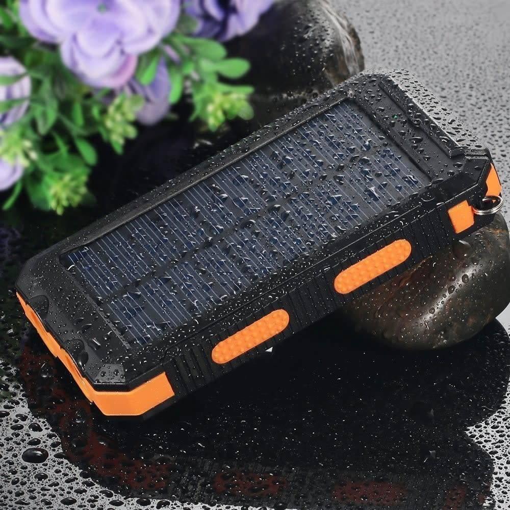 Gigacord Solar Charger, Solar Power Bank 10000mAh External Backup
