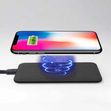 Gigacord Wireless Qi Cellphone Charger Black Ruber Oil Coated