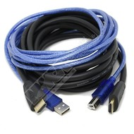 Dtech HDMI A USB A B Male Male KVM Cable for KVM Switch (Choose Length)