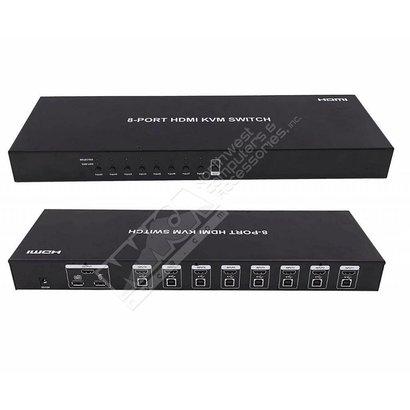 Dtech DT 8-Port USB/HDMI KVM Switch w/Cable
