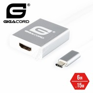 Gigacord Gigacord USB 3.1c Type-c Male to HDMI Female Video Adapter Macbook, Silver