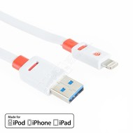 Griffin Griffin 8pin Lightning USB FLAT Sync Charge Transfer Cable, White (Choose Length)