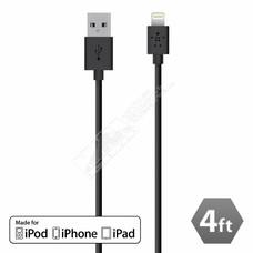 Belkin Belkin 4 Feet F8J023BT04-BLK 4' Lightning to USB Charge & Sync Cable Apple MFI Certified (Choose color)