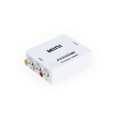 Mini Composite RCA CVBS AV to HDMI Converter For VCR DVD 720P 1080P AV2HDMI