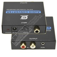 Gigacord Gigacord Digital to Analog Converter with 3.5mm Headphone Jack Output, Toslink Coaxial RCA Input, With Power Adapter