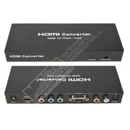 Gigacord Gigacord HDMI to VGA and YPbPr Component + R/L Audio Converter v1.3 with Remote support 720P 1080P, Black