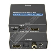 Gigacord Gigacord HDMI to HDMI Toslink / Coaxial / 3.5mm Audio Extractor Converter with 1080p Support, Black