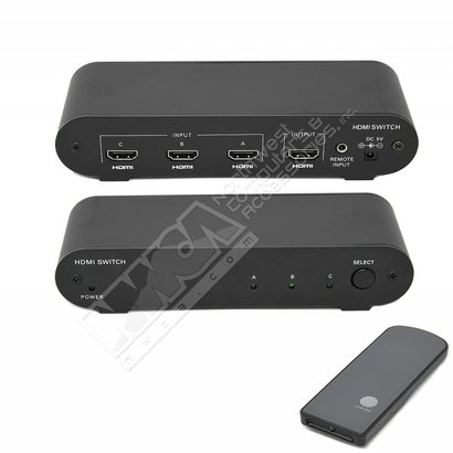 BAFO BF-3362 HDMI 3-to-1 Switch With Remote - Video Audio switch, 3 Ports