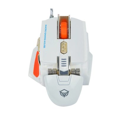 MeeTion MeeTion M975WH Wired USB Gaming Mouse, White