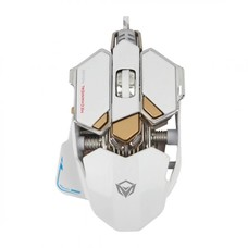 MeeTion MeeTion M990WH Wired USB Gaming Mouse, White