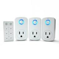 Plug-in Remote Control Power Socket (3-Sockets + Remote)