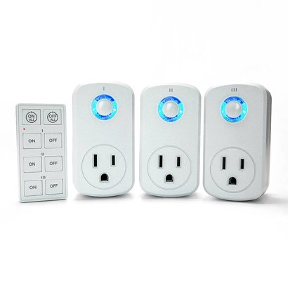Plug-in Remote Control Power Socket (3-Sockets + Remote)