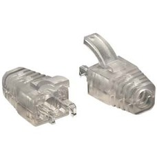 Clear Strain Relief Boot for Cat.5E UTP RJ45 Clear 100pack