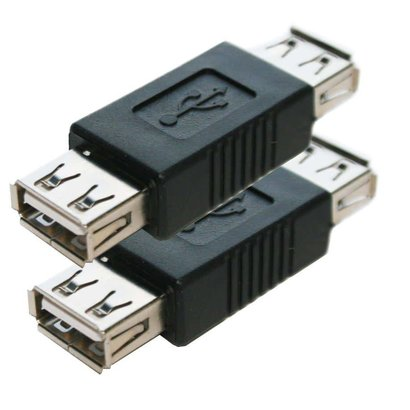 USB Adapter Gender Changer Coupler A (Female) to A (Female)