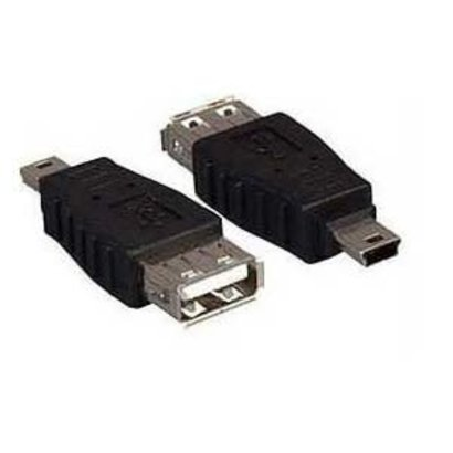 USB Adapter Gender Changer Coupler A (Female) to Mini B 5pin (Male)
