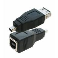 USB Adapter Gender Changer Coupler B (Female) to Mini B 4pin (Male)