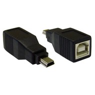 USB Adapter Gender Changer Coupler B (Female) to Mini B 5pin (Male)