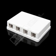 4 Port RJ45 Surface Mount Box (Unloaded), White
