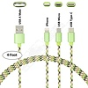 Gigacord 4Ft Gigacord Camo Series Charging Only 3 in 1 Cable, iPhone / Micro USB / USB Type-C, w/ Strain Relief, Durable Cloth Braid, Ultra Slim Aluminum Connectors, 1 Year Warrany (Green Camo)