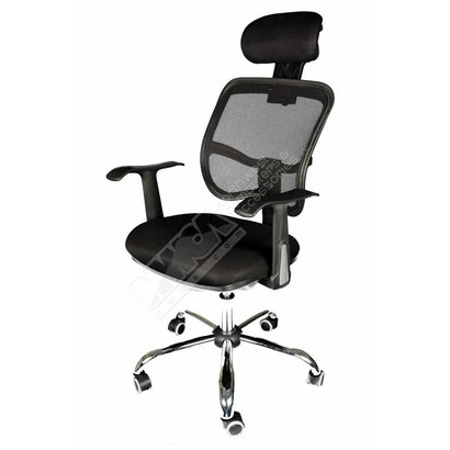 Cryo-PC Black Office Chair with Breathable Mesh Design