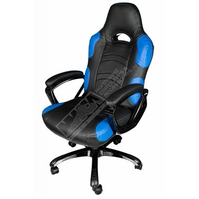 Cryo-PC Black and Blue High Back Ergonomic Gaming Chair